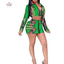 Для женщин размера плюс одежда Дашики длинный рукав в африканском