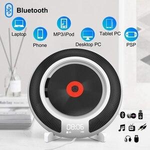 Image 3 - Lecteur CD Portable avec Bluetooth Radio FM montable au mur haut parleurs HiFi intégrés avec télécommande prise casque