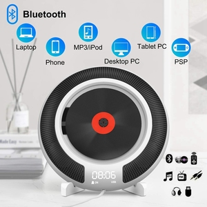 Image 3 - Portable CD Player with Bluetooth Wall Mountable FM Radio Built In HiFi Speakers with Remote Control Headphone Jack