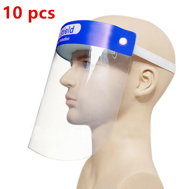 10PCS Transparent Plastic Safety Faces Shields Screen Spare Visors For Head Mask Eye Faces Protection