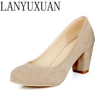 2017 gorąca sprzedaż Zapatos Mujer Tacon duży rozmiar 34-43 3 kolor nowa wiosna jesień kobiet pompy kobiet buty wysokie obcasy Pu Party 222-6 tanie i dobre opinie QPLYXCO podstawowe Kwadratowy obcas CN (pochodzenie) flokowane Wysoka (5 cm-8 cm) Dobrze pasuje do rozmiaru wybierz swój normalny rozmiar