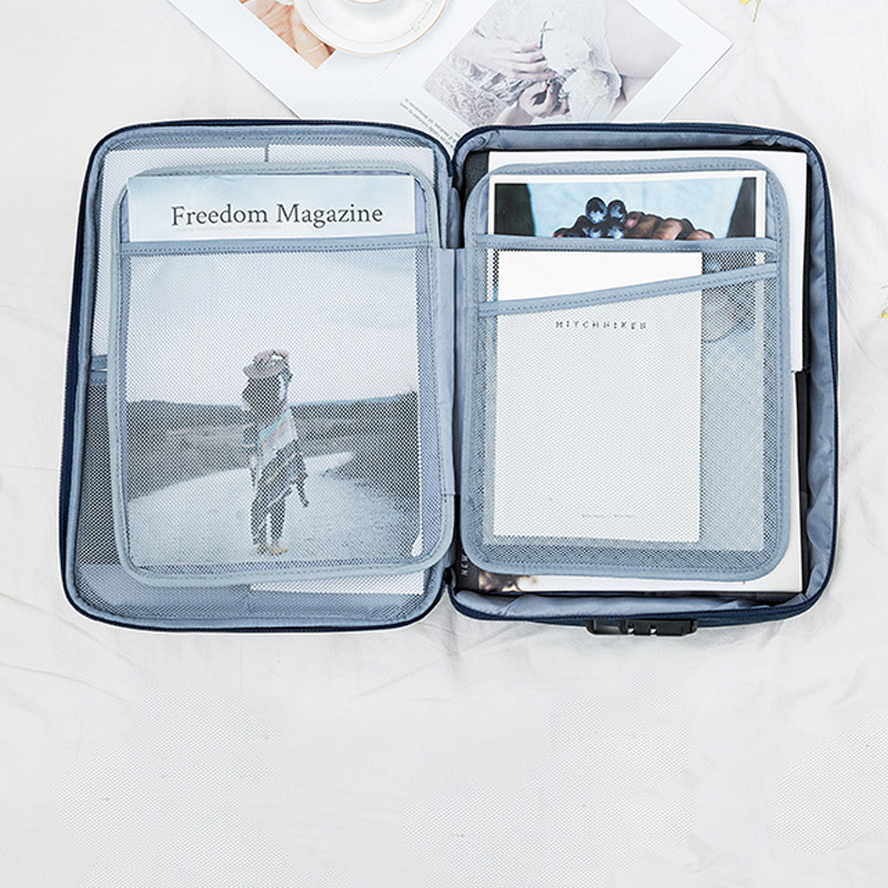 Image 3 - Большая вместительная сумка для документов креативная многофункциональная папка для файлов сумочки для билетов для дома сумка органайзер для путешествий принадлежностиПапка для файлов    АлиЭкспресс