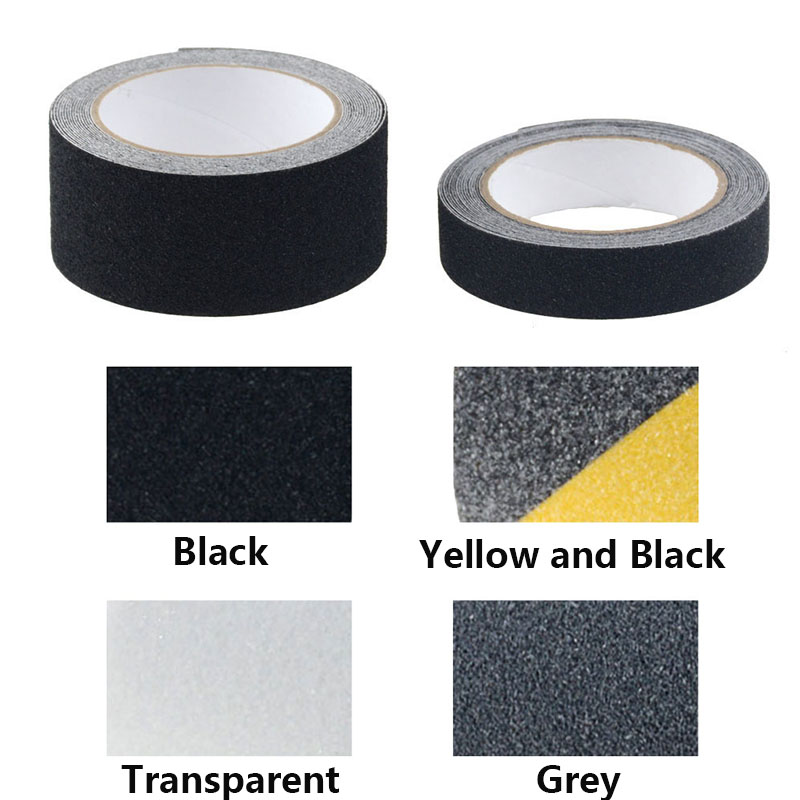 1PC 5M Non Slip Safety Grip Tape Anti-Slip Indoor/Outdoor Stickers Strong Adhesive Safety Traction Tape Stairs Floor