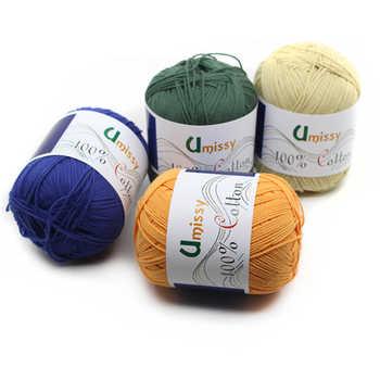 10pcs 100% Baumwolle Stricken Garn Häkeln Garn für Stricken Anti-Pilling 500 gr/satz Heißer Verkauf