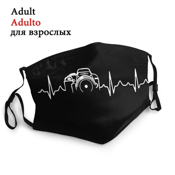 Heartbeat Of Camera Reusable Mouth Face Mask Photographer Anti Haze Dustproof Protection Cover Respirator Muffle - discount item  40% OFF Mask