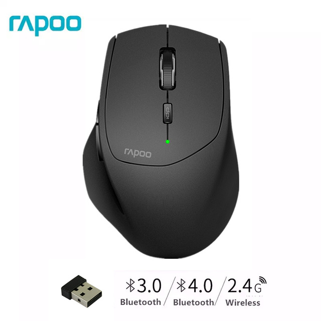 New Rapoo MT550G Multi mode Wireless Mouse Switch between Bluetooth 3.0/4.0 and 2.4G for Four Devices Connection Computer Mouse
