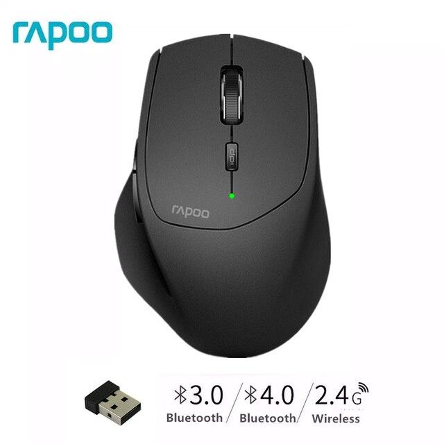 ใหม่ Rapoo MT550G หลายโหมดเมาส์ระหว่างบลูทูธ 3.0/4.0 และ 2.4G สำหรับสี่อุปกรณ์การเชื่อมต่อเมาส์คอมพิวเตอร์