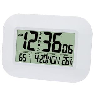 Image 1 - Большой ЖК дисплей цифровые настенные часы с термометром температурный Радиоуправляемый будильник RCC Настольный календарь для дома школы офиса