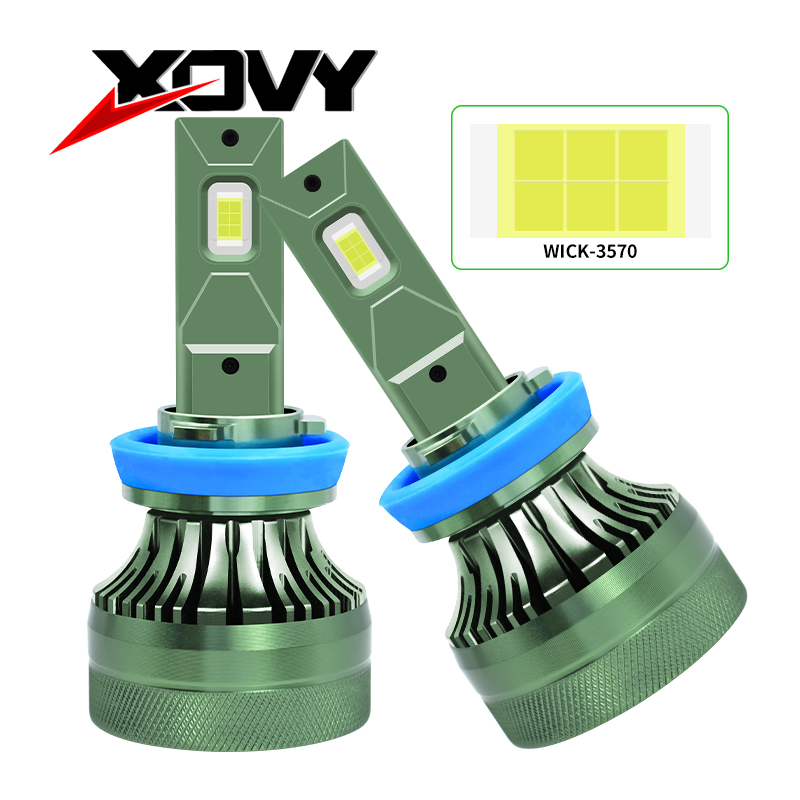 XOVY 80 Вт 12000 люмен Автомобильные фары H8 H9 H11 880 881 H27 9004 HB1 6000K автомобильные противотумансветодиодный фары светодиодные Hid фары лампы Комплект п...
