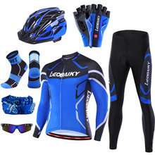Bicycle Jersey Sportswear Padded Bike-Clothing Long-Sleeves-Set Mtb Pro 3D Men Complete-Kits