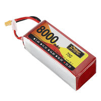 ZOP Power 22.2V 8000mAh 75C 6S Lipo Battery XT60 Plug For RC Model RC FPV Drone Airplane Helicopter Car Boat