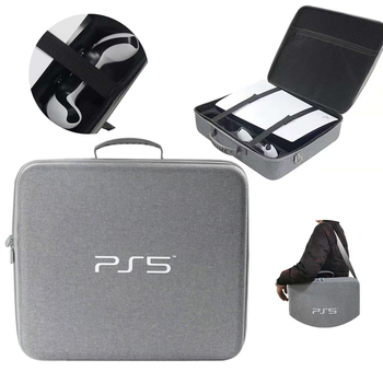 Carry For Sony PS5 Bag Carrying Travel Game Console Playstation5 Playstation PS 5 Case Storage Accessories Tool Hard Shell Pouch 2