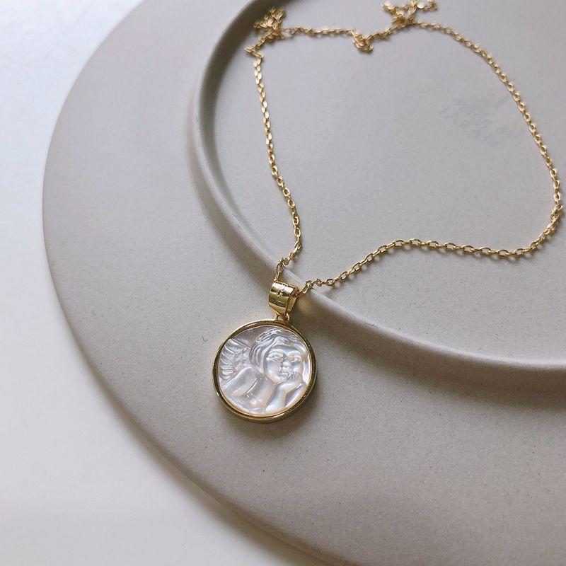 Western Style Classy Rhinestone Elk Sweater Chain Long Silver Pearl Necklace