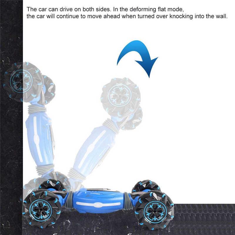 Remote Control Mobil Stunt Gerakan Induksi Memutar Kendaraan Off-Road Musik Ringan Drift Menari Sisi Mengemudi RC Mainan Hadiah untuk Anak-anak