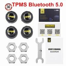 2021 mais novo orignal carro bluetooth 5.0/4.0 tpms monitor de alarme sistema sensor pressão dos pneus para andriod ios para a segurança do carro