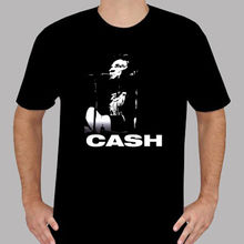 New Johnny Cash Rock n Roll Music Legend Mens Black T-Shirt Size S to 3XLO-Neck Teenage