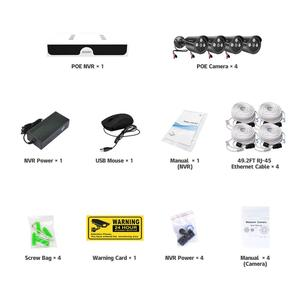 Image 5 - 4CH 4MP POE Kit H.265 System CCTV Security NVR Outdoor Waterproof IP Camera Surveillance Alarm Video Record