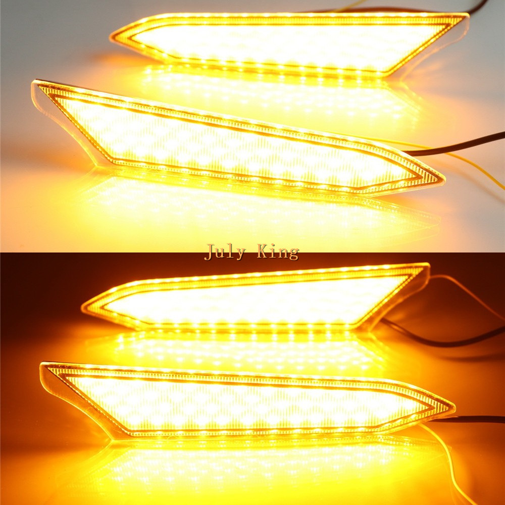 LED Daytime Running Lights DRL Streamer Turn Signals for Toyota Rush 2018-2019