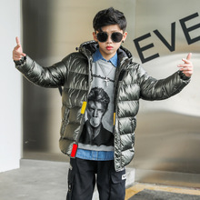 Warm Coat Jackets Boys Winter Children Hooded Waterproof Casual New Solid 8-19T High-Quality