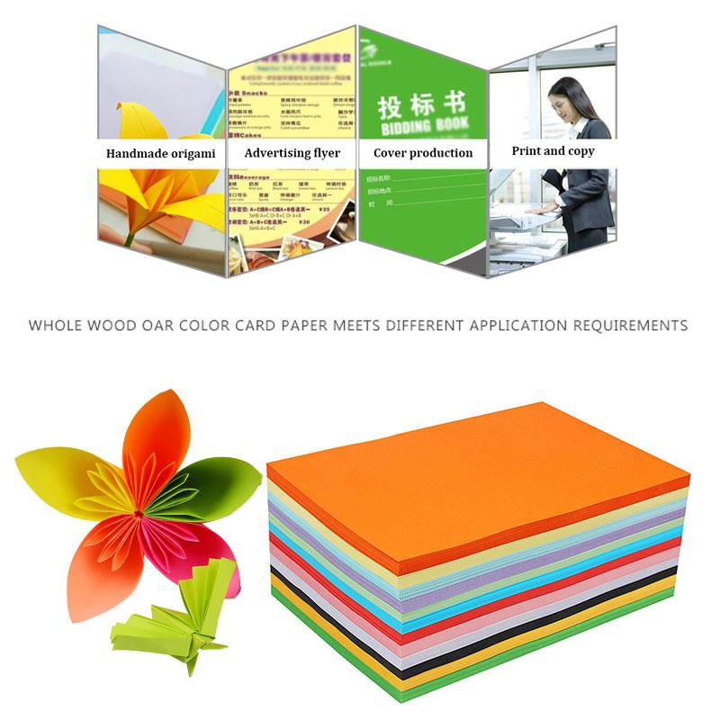 Coloured Paper Card Scrapbooking School Cardstock Printing Office Supplies 100pcs 160gsm A4 Premium Universal