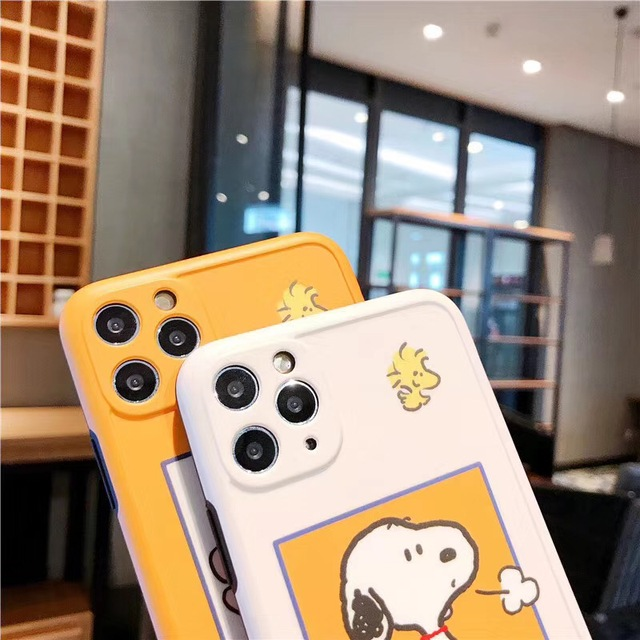 New Japan cartoon cute Charlie Brown dog photo frame anti-fall silicone soft cover for iphone 11Pro MAX XS XR 7 8plus phone case