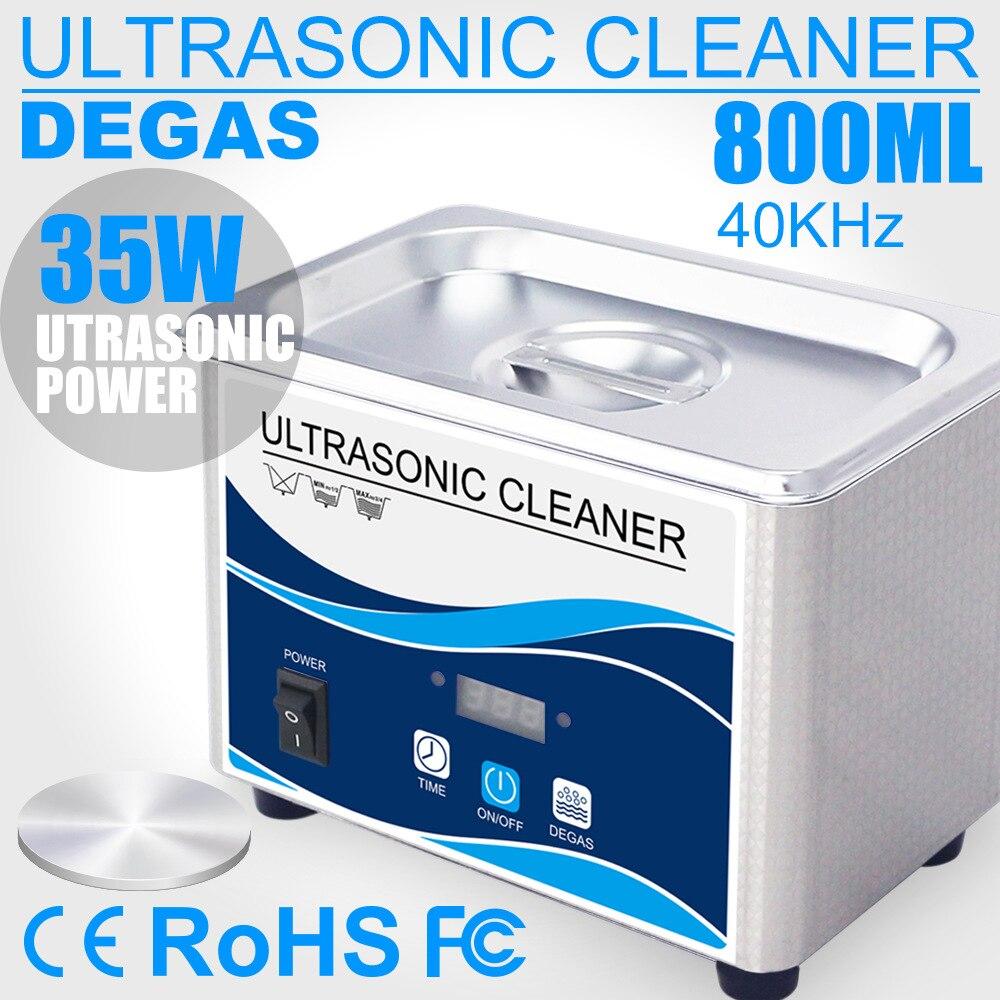 Ultrasonic Cleaner Stainless Steel Washing Bath Machine Glasses Jewelry Watch Denture Mini Ultrasound Wave Cleaning Tank EU US