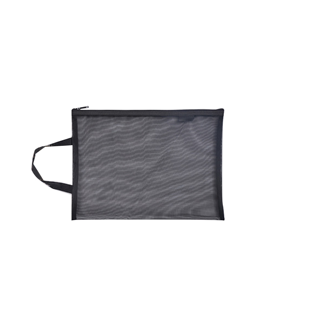 Transparent Gridding Paper Folder Document Bag For Students Pen Filing Products Solid A4 A5 Stationery Nylon Office School