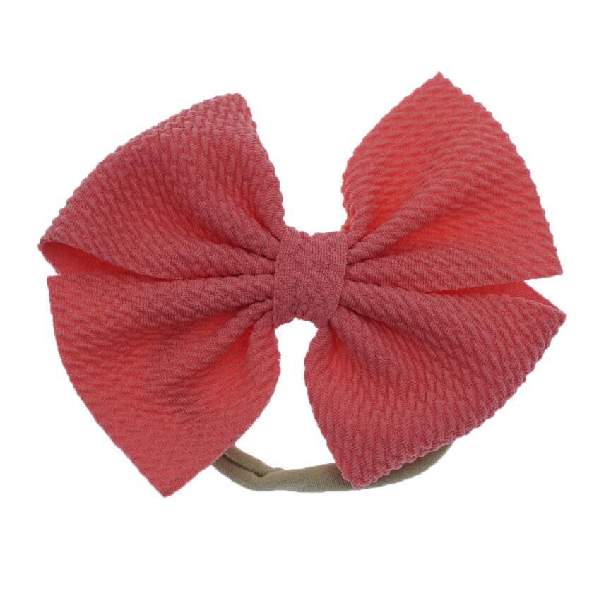 Red Hair Bow \u2022 Cotton Fabric \u2022  Nylon Headband or Clip