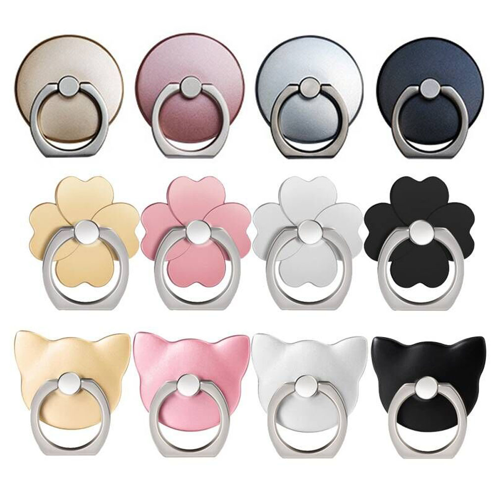 Wholesale Socket Universal Finger Ring Phone Holder For IPhone XS Max X XR 8 7 6 6S Plus 5S SmartPhone For Samsung All Phones
