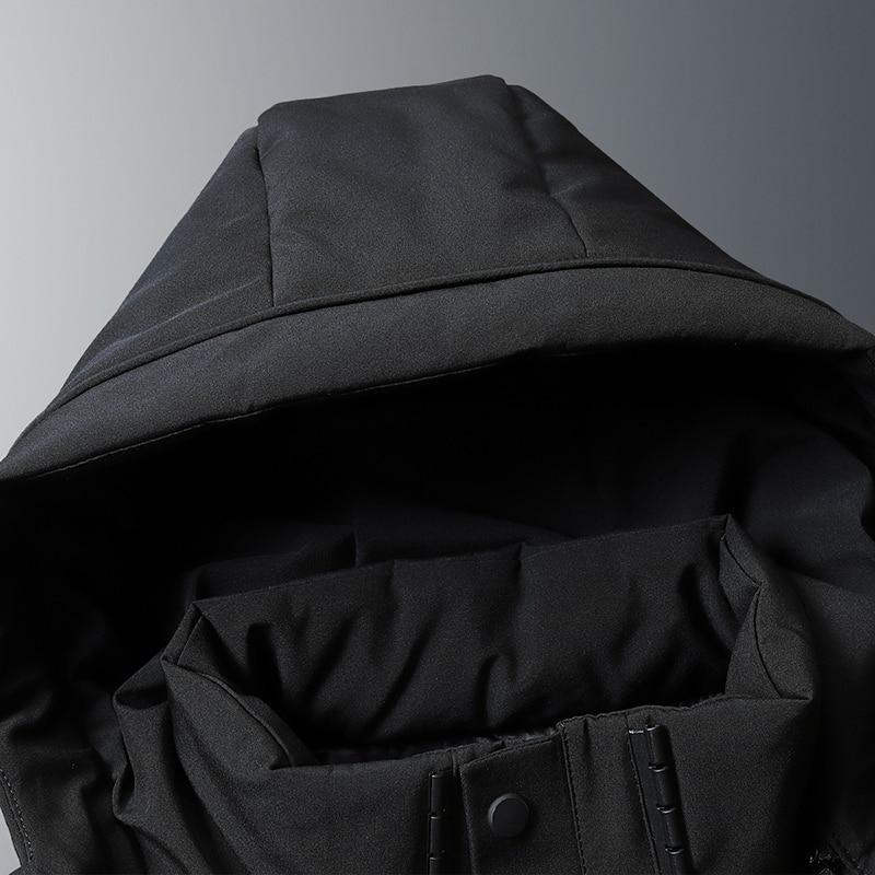 8XL 7XL canard doudoune hommes 2019 nouveau Style moyen longueur ue style élégant beau manteau épais hiver veste A916 - 6
