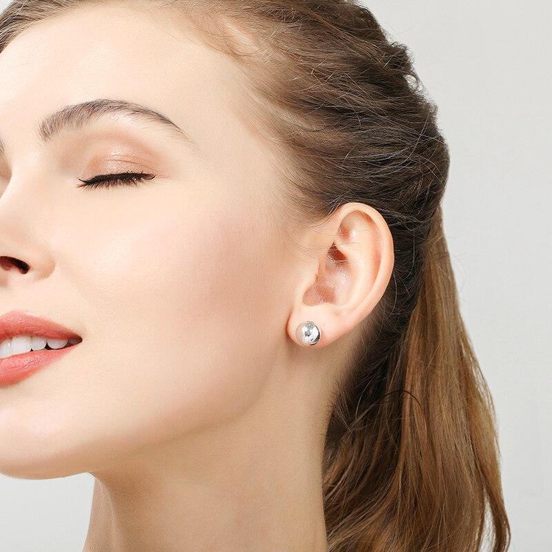 Купить женские круглые серьги гвоздики из серебра 925 пробы 8/10 мм