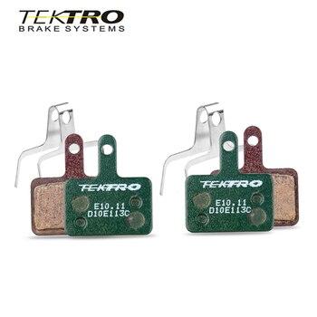 TEKTRO E 10.11 MTB Brake Pads Mountain Road Foldable Bicycle disc brake pads For shimano MT200/M355/M395/M415/M285 / M286/M280 suntnur mtb brake pads for shimano m375 m395 m416 m445 m446 m485 m486 m515 m525 tektro bike brake pads 4 pairs