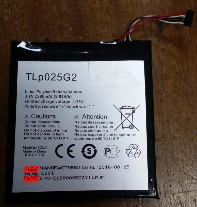 2580mAh TLP025G2 Battery For Alcatel One Touch Pixi 4 7.0 9003X Batteries With Tools for gift image