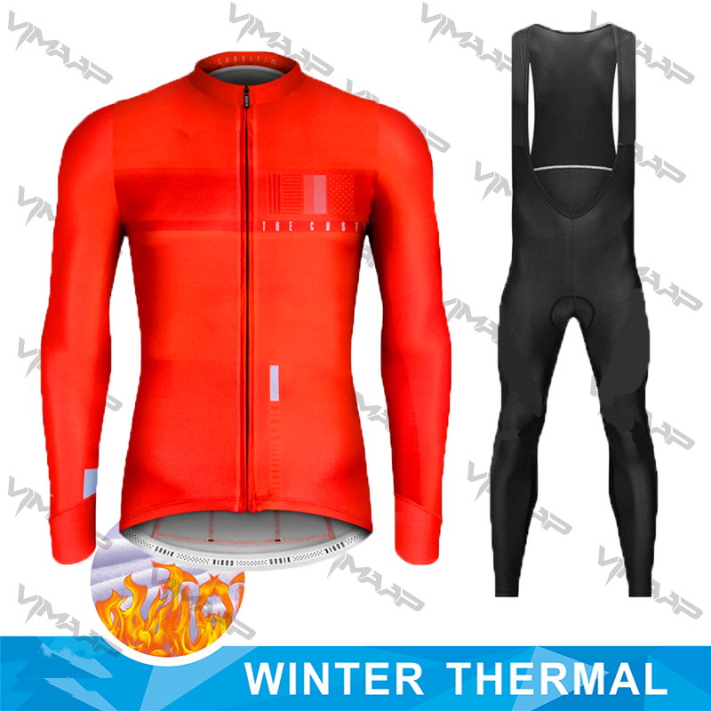 Men/'s Cycling Jersey Winter Windproof Bike Bicycle Clothing Fleece Thermal Sets