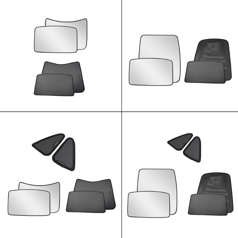 4 6Pcs set Car Sun Visor Rear Front Sun Shade Half Full Cover for Tesla Model 3 Roof Skylight Shades Protector Accessories