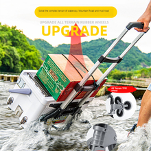 Climbing-Cart Folding All-Terrain-Stair with Bungee-Cord Portable Trolley for Upstairs