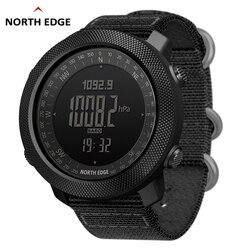 Мужские спортивные цифровые часы NORTH EDGE, часы для бега, плавания, военные армейские часы, альтиметр, барометр, компас, водонепроницаемые, 50 м