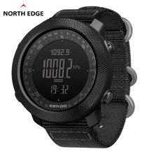北エッジ男性のスポーツデジタル腕時計時間水泳軍事軍時計高度計バロメーターコンパス防水50メートル