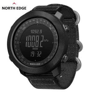 Image 1 - NORTH EDGE Mens sport Digital watch Hours Running Swimming Military Army watches Altimeter Barometer Compass waterproof 50m