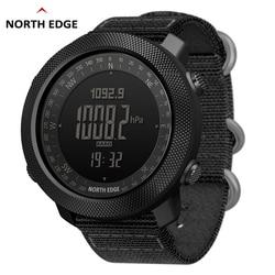 NORTH EDGE reloj Digital deportivo para hombre horas de natación relojes militares del Ejército altímetro brújula barómetro impermeable 50m