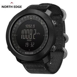Image 1 - NORTH EDGE sportowy zegarek cyfrowy dla mężczyzn, wskazywanie godziny, tryb biegania, pływania, zegarki militarne, wojskowe, barometr, wysokościomierz, kompas, wodoodporny do 50m głębokości
