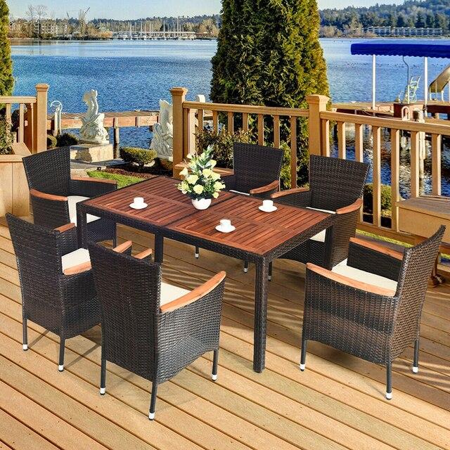 7 PCS Outdoor Patio Garden Dining Set  2