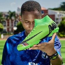 NIKEZI высокие мужские и женские студенческие Детские футбольные кроссовки для мальчиков и девочек длинные шипы гвоздь Шипованная обувь для футбола кроссовки