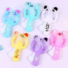 1pcs Gifts Manual Handheld Summer Mini Cooling Air Conditioner for Children Kids Mini Portable Hand Pressure Fan Color Random