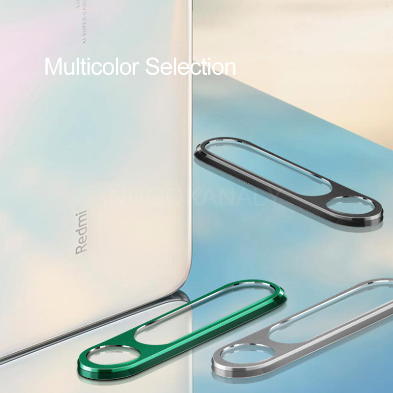 Tempered Glass And Metal Protective Ring for Xiaomi Redmi Note 8 Pro Camera Lens 5