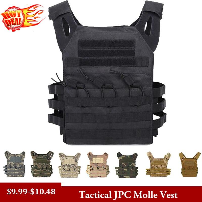 Caza táctica cuerpo armadura JPC Molle placa portador chaleco juego CS al aire libre Paintball Airsoft chaleco equipo militar