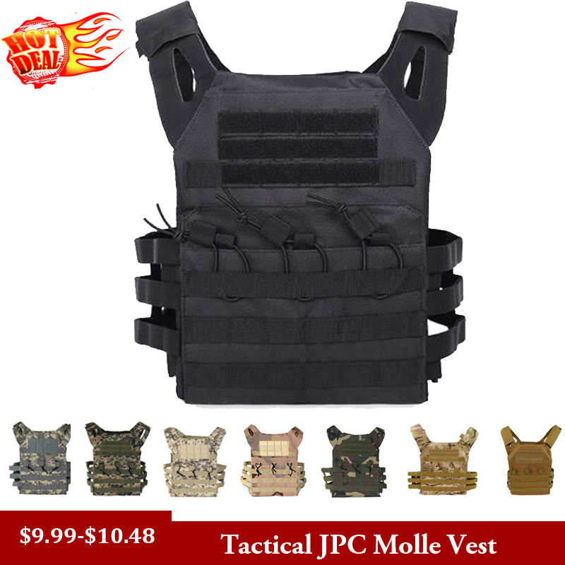 Tactical Vest Molle Plate Carrier Police Army Airsoft Paintball Swat Hunting