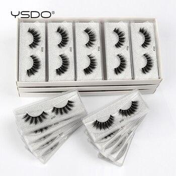 Wholesale Eyelashes 4/10/20/50/100 Pairs Faux 3D Mink Lashes Natural False Eyelashes Makeup Cilios Thick Mink Eyelashes In Bulk 1