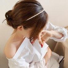 Ободок для волос с большим жемчугом Женский Роскошный аксессуар