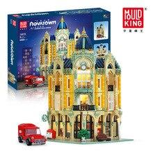 Kids Toys Building-Blocks Castle Creator City Street-View Ce Coner Post Office Floating-Sky